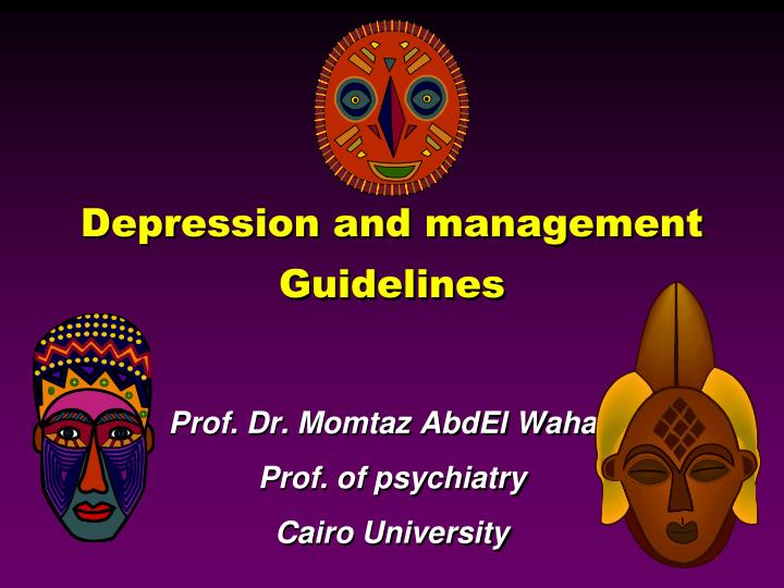 depression and management guidelines