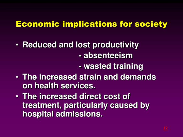 Economic implications for society