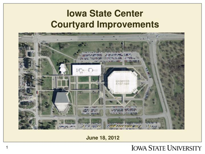 iowa state center courtyard improvements