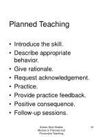 planned teaching