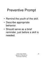 preventive prompt