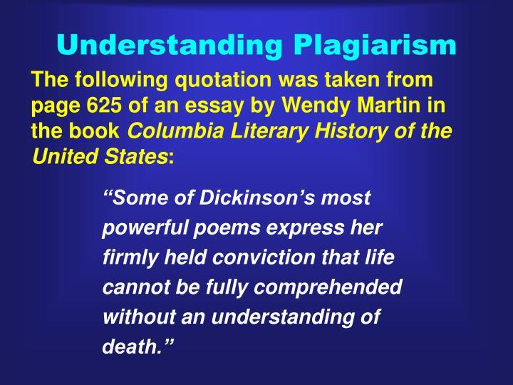 Understanding Plagiarism