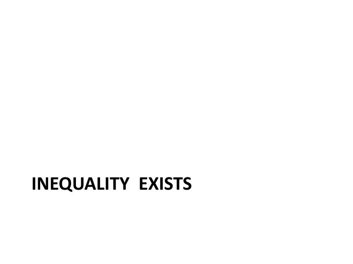 Inequality  Exists