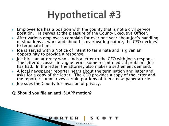 Hypothetical #3