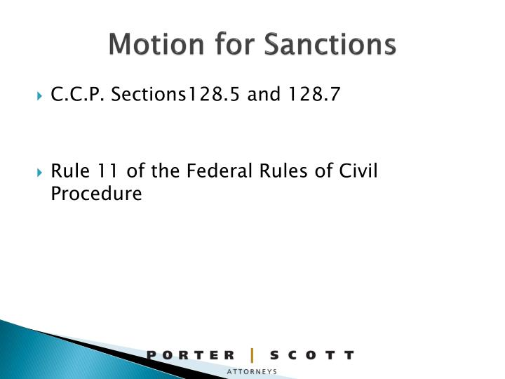Motion for Sanctions