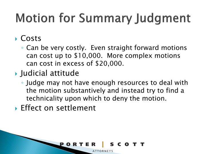 Motion for Summary Judgment