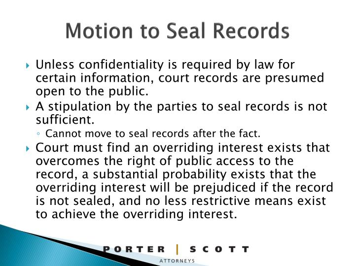 Motion to Seal Records