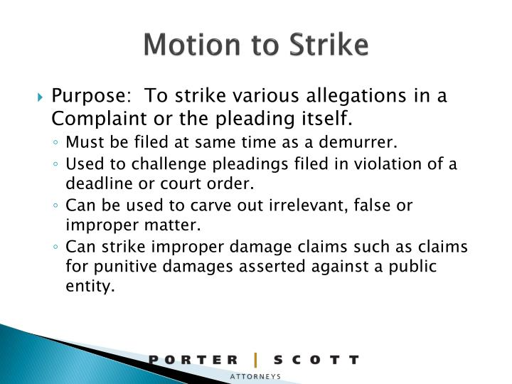 Motion to Strike