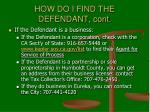 how do i find the defendant cont