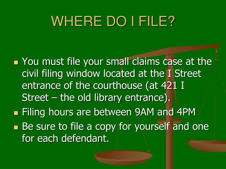 WHERE DO I FILE?