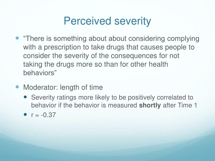 Perceived severity