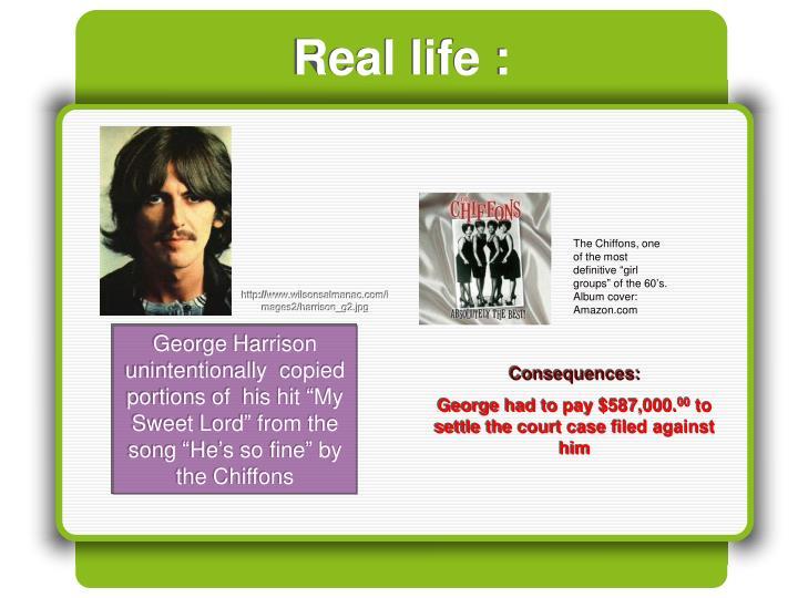 Real life :