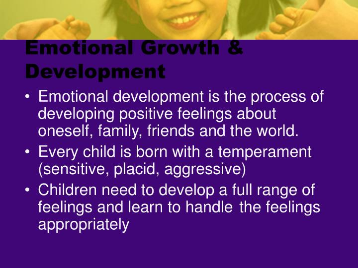 Emotional Growth & Development