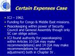 certain expenses case