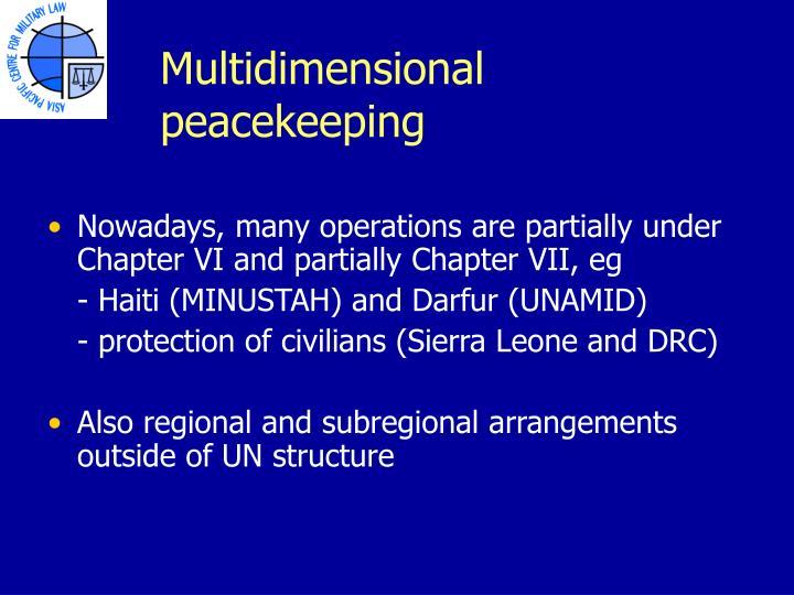 Multidimensional peacekeeping