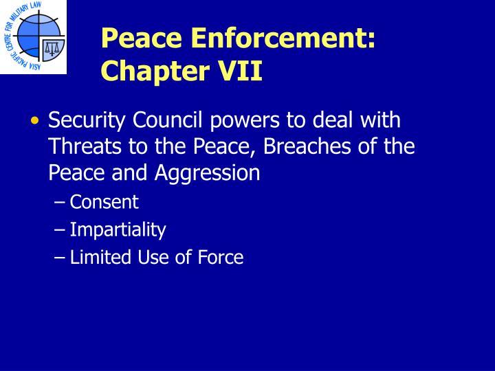 Peace Enforcement: