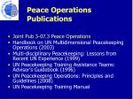 peace operations publications