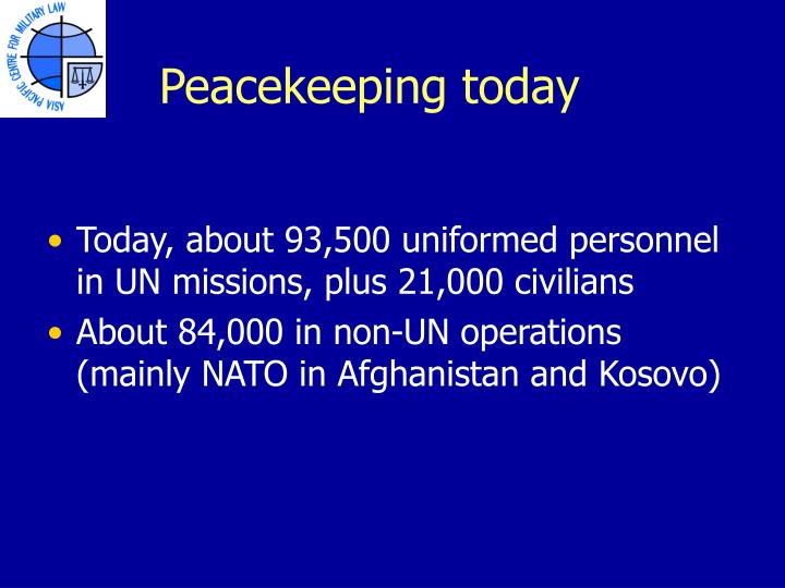 Peacekeeping today
