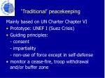 traditional peacekeeping