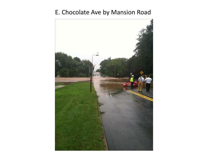 E. Chocolate Ave by Mansion Road