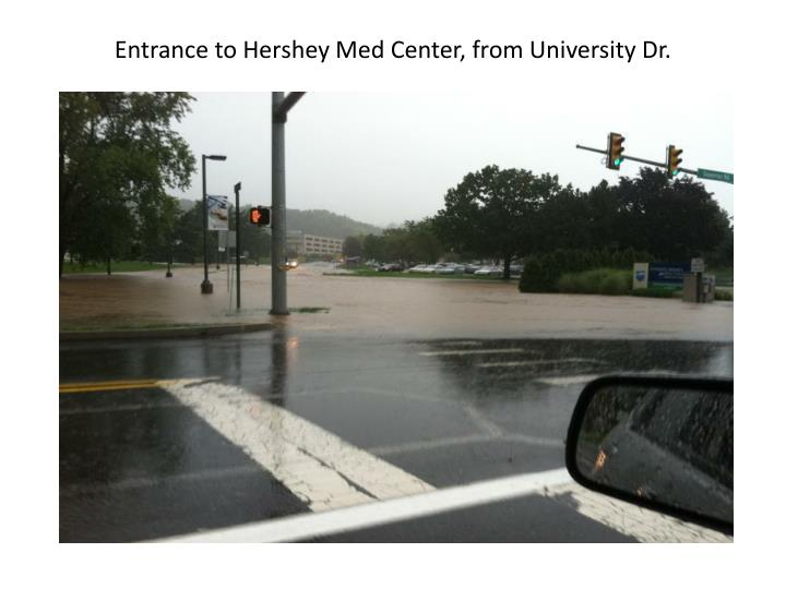 Entrance to Hershey Med Center, from University Dr.