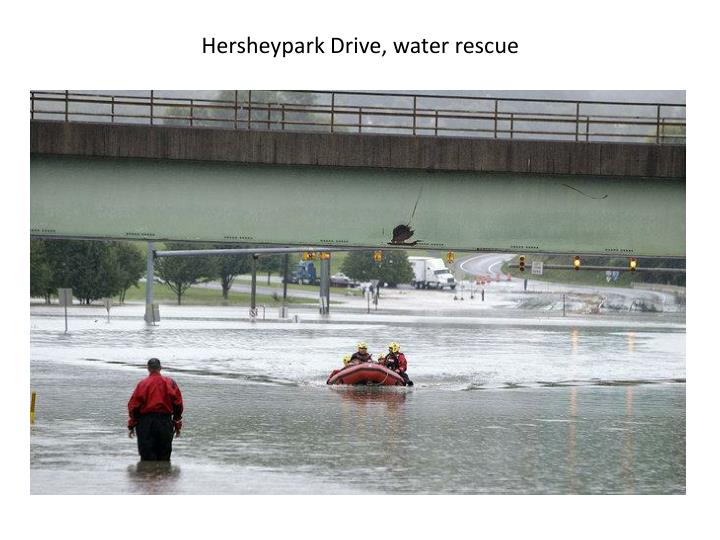 Hersheypark Drive, water rescue