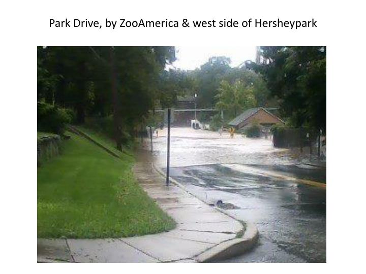 Park Drive, by ZooAmerica & west side of Hersheypark