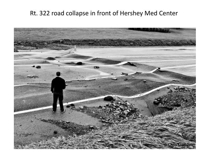 Rt. 322 road collapse in front of Hershey Med Center