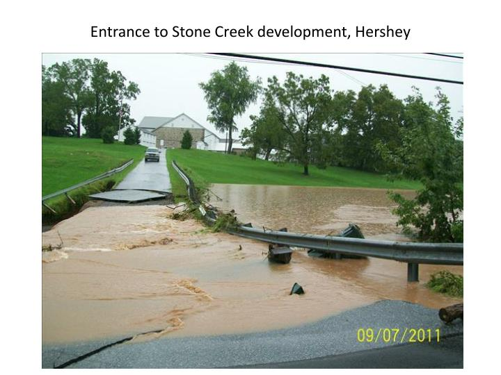 Entrance to Stone Creek development, Hershey