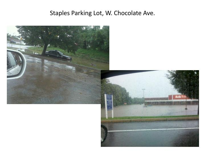 Staples Parking Lot, W. Chocolate Ave.