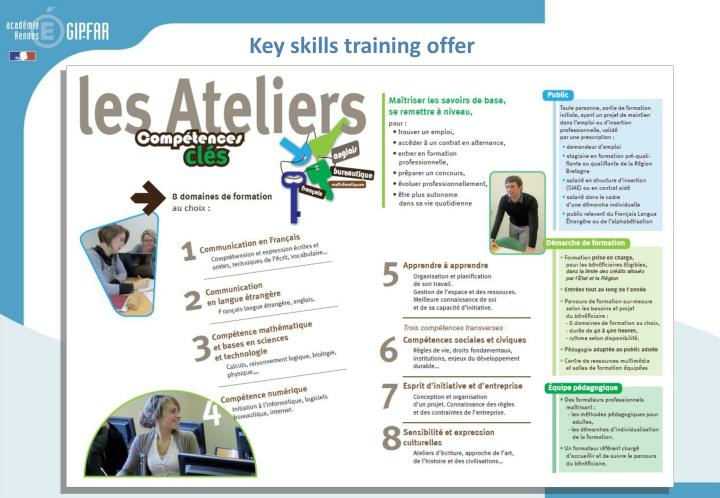 Key skills training offer