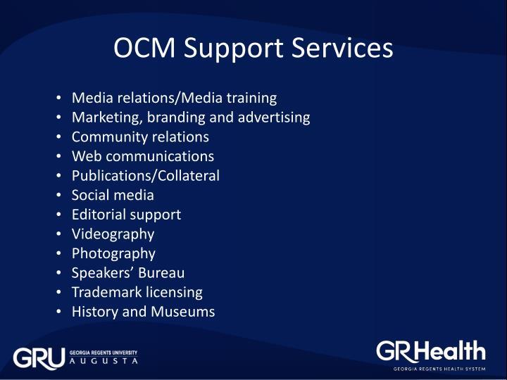 OCM Support