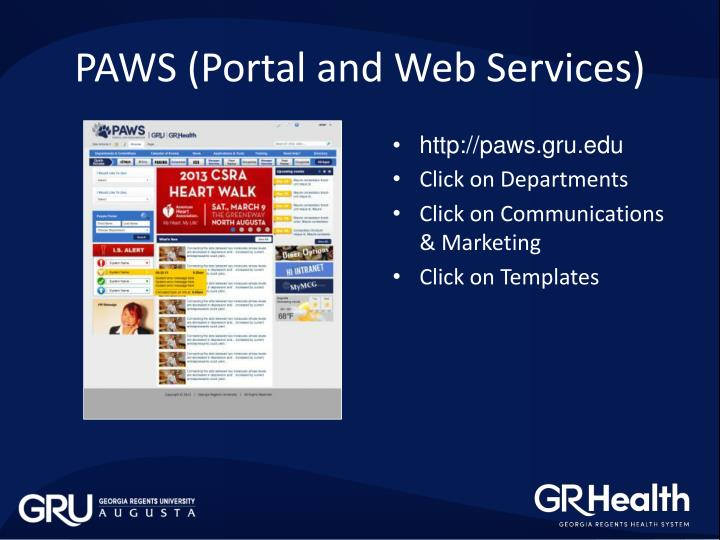 PAWS (Portal and Web Services)