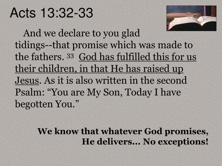 Acts 13:32-33