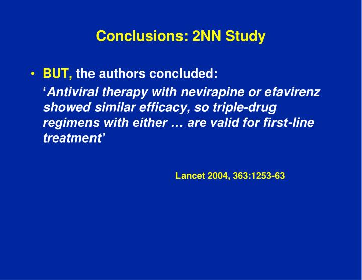 Conclusions: 2NN Study
