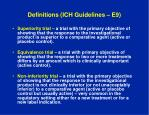 definitions ich guidelines e9