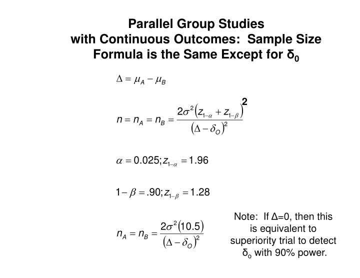 Parallel Group Studies