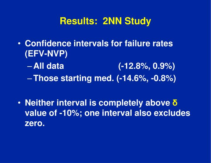 Results:  2NN Study