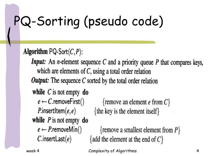 PQ-Sorting (pseudo code)