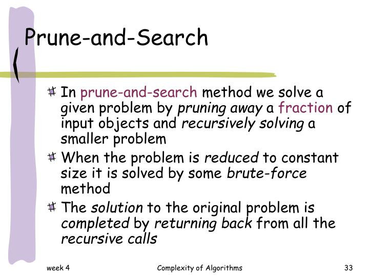 Prune-and-Search