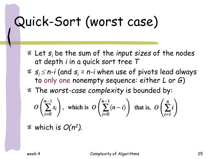Quick-Sort (worst case)