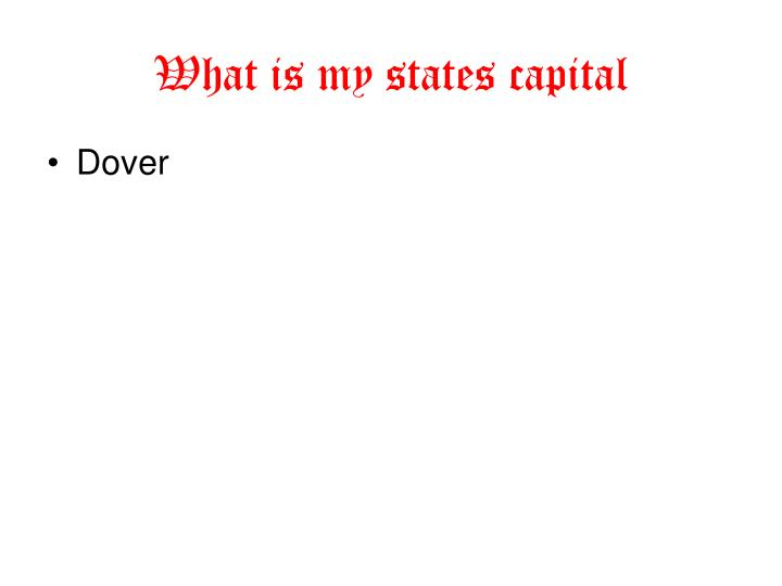 What is my states capital