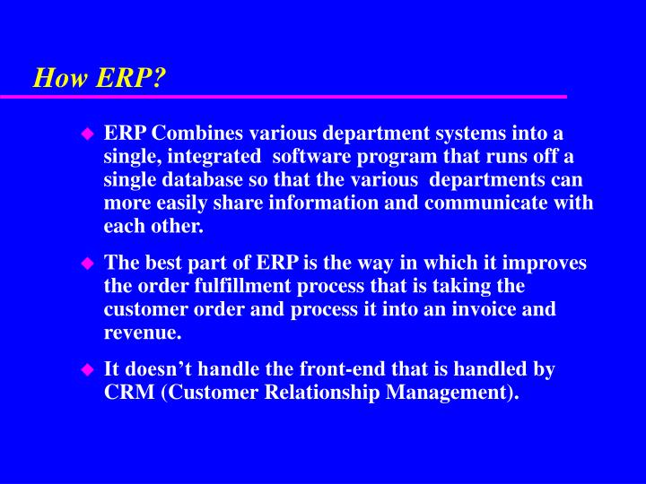 How ERP?