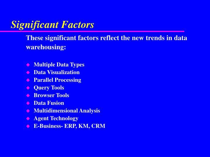 Significant Factors
