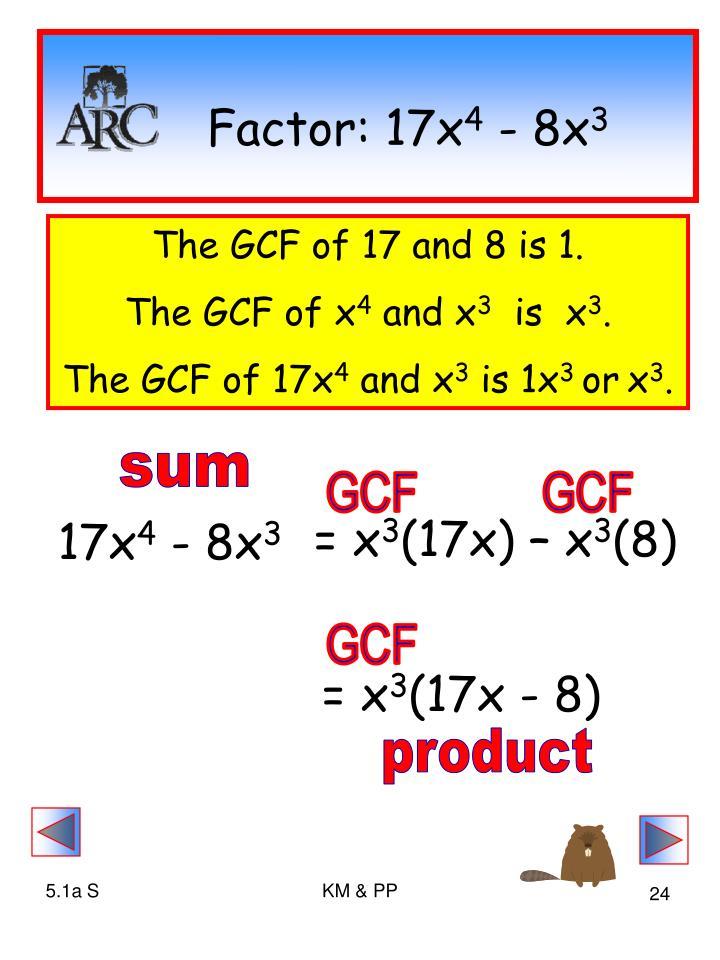 Factor: 17x