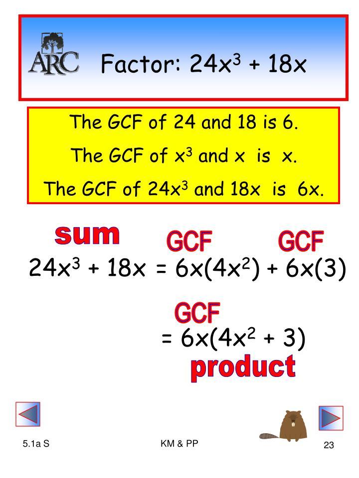 Factor: 24x