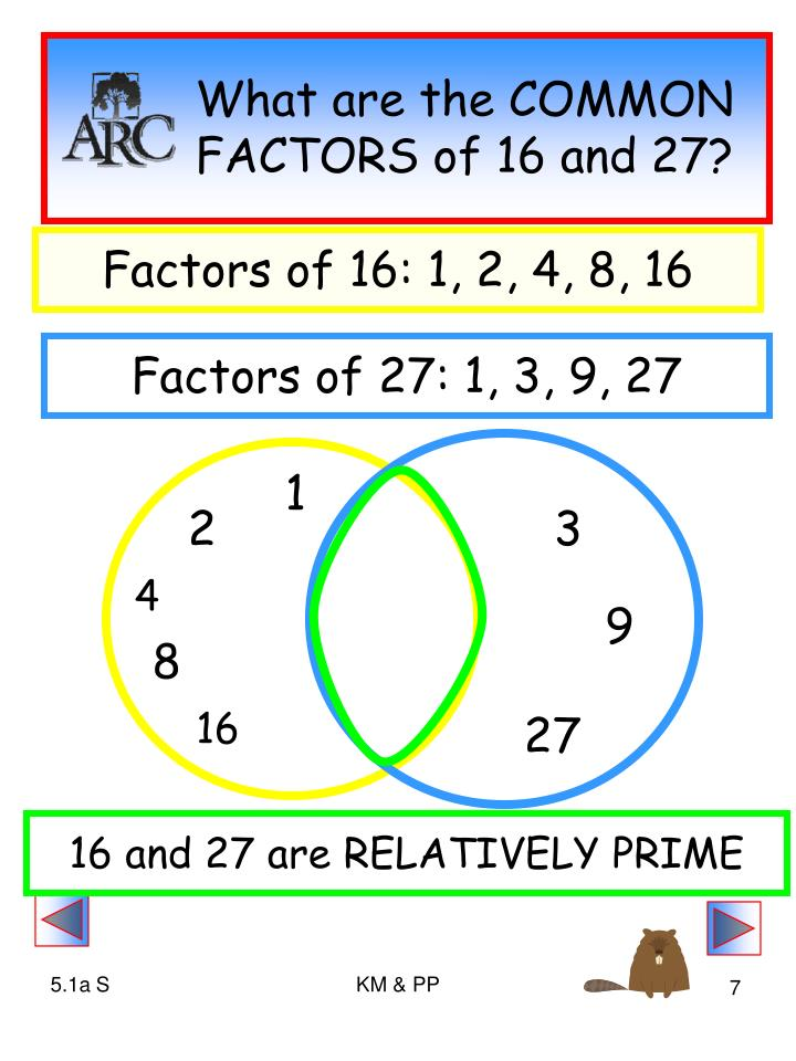 What are the COMMON FACTORS of 16 and 27?