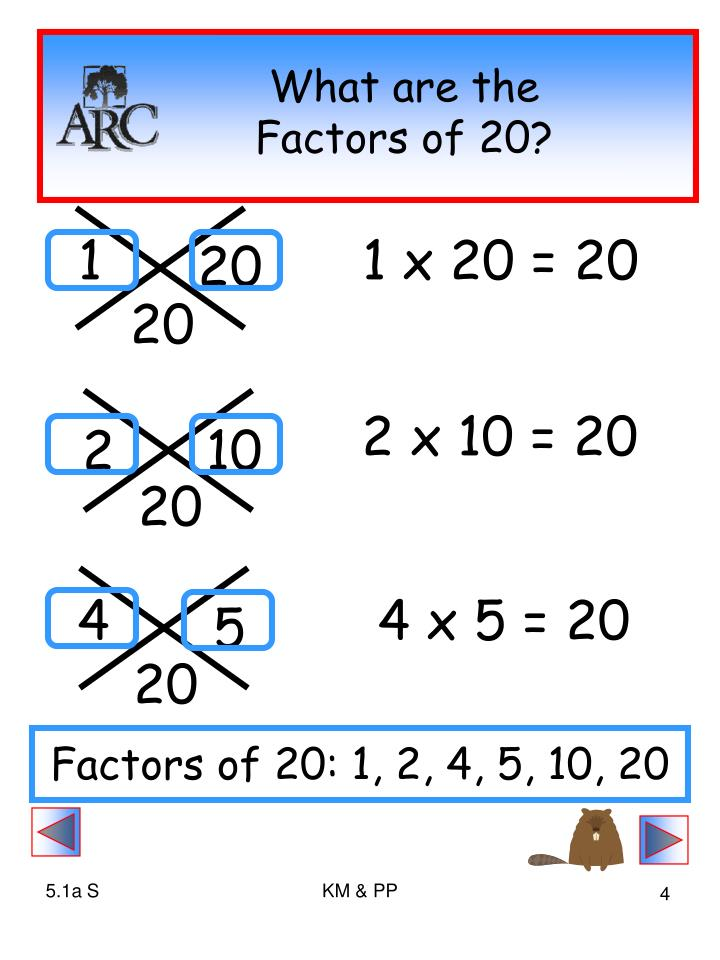 What are the Factors of 20?