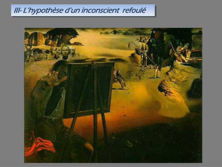III- L'hypothèse d'un inconscient  refoulé