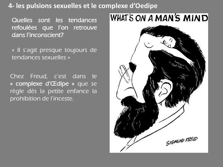 4- les pulsions sexuelles et le complexe d'Oedipe